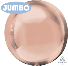 "21"" Jumbo Rose Gold Orbz Foil Balloon - 3ct"