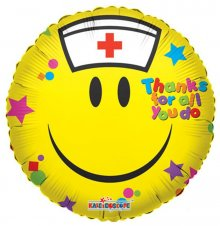 "18"" Smiley Nurse Foil Balloon"