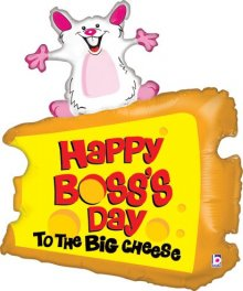 "30"" Boss's Day Big Cheese Shape Foil Balloon"