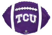 "18"" TCU Horned Frogs Football Foil Balloon - Unpkg"