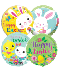 "18"" EASTER Assorted Foil Balloons - 1ct"