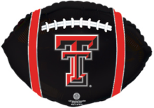 "18"" Texas Tech Red Raiders Football Foil Balloon - Pkg"
