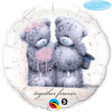 "18"" Tatty Teddy- Together Forever Foil Balloon - Pkg"